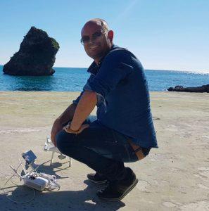 Matteo Arces con DJI Phantom 4 a Vietri sul Mare
