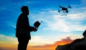 drone in aria